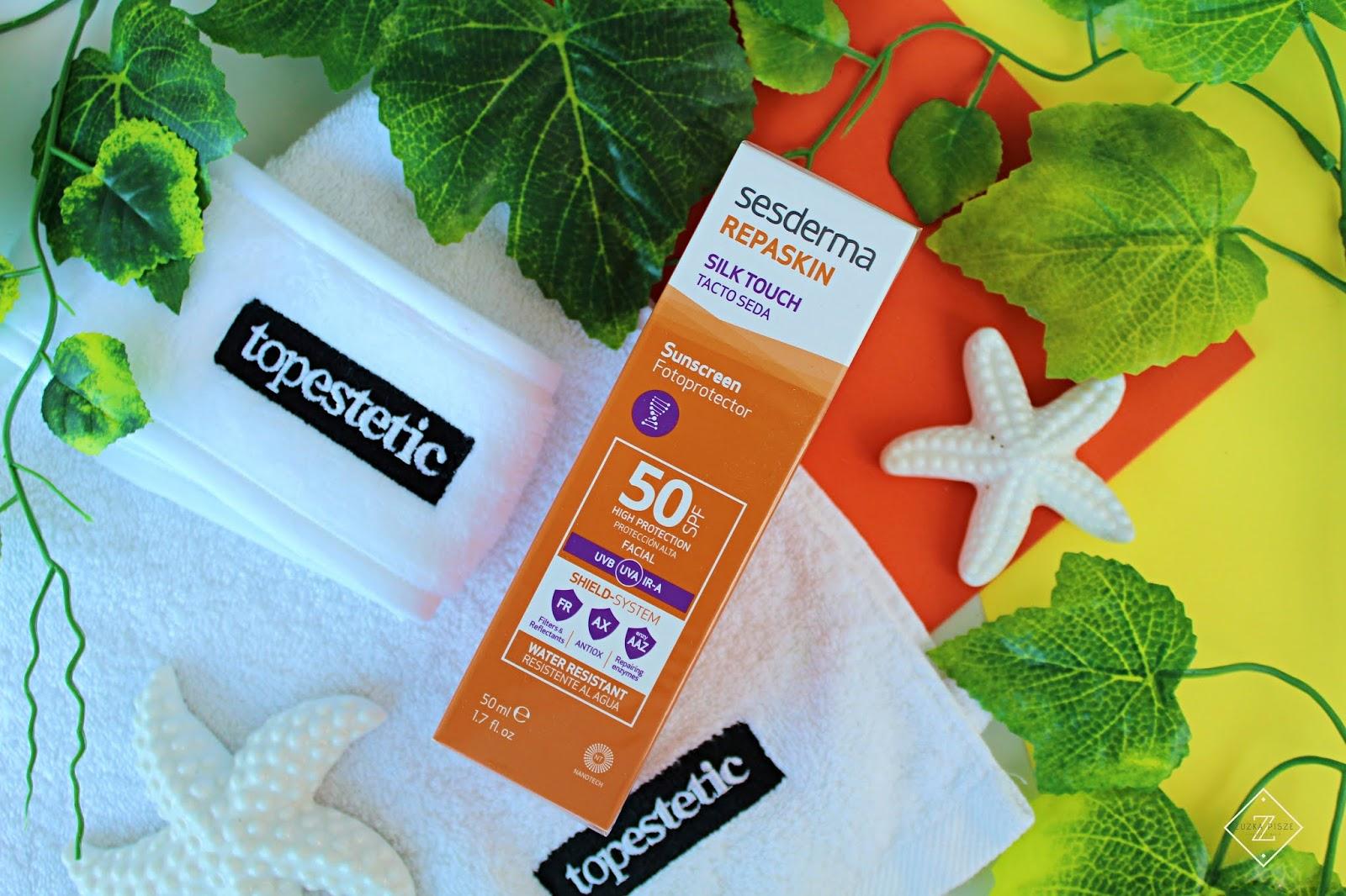 Sesderma Repaskin Silk Touch SPF 50 Krem liposomowy SPF 50 - topestetic.pl