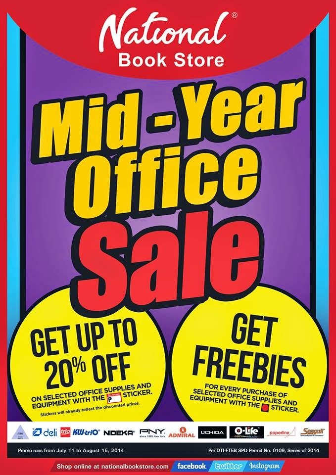 d0afd6b854 National Book Store   Powerbooks Mid-Year Office SALE  July-Aug 2014