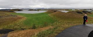 Skútustaðagígar y Stakhólstjörn, Lago Mývatn, Islandia, Iceland.