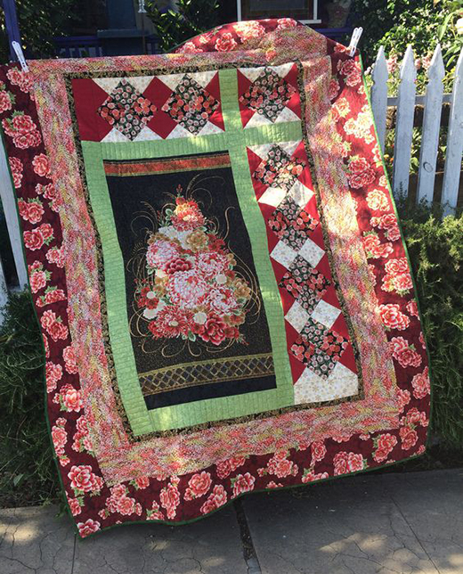Chrysanthemum Jewel Quilt designed by Robert Kaufman Fabrics