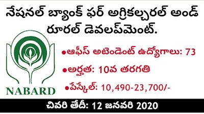 NABARD Recruitment 2019 Office Attendant