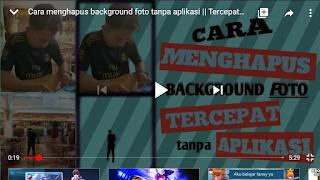 Cara hapus background foto 5 detik tanpa aplikasi