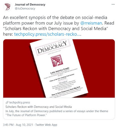 The Debate on Platform Power and Democracy