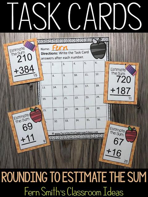 Estimate Sums Task Cards