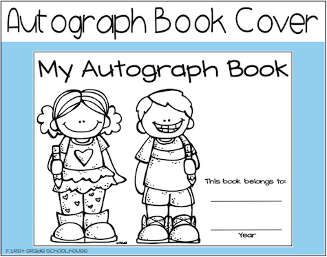 Remarkable image inside printable autograph book for students