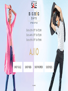 Ajio  Offer  Get Extra 55% off on purchase of Rs.3990