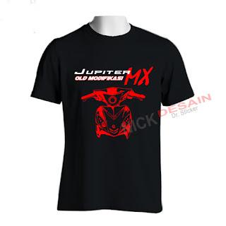 Kaos OJMX Hitam Motif Merah