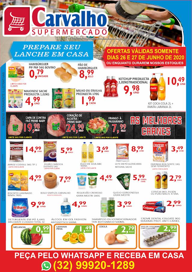 As melhores ofertas estão no Carvalho Supermercado - Confira o encarte deste fim de semana