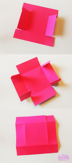 DIY Easter Basket folding instructions.
