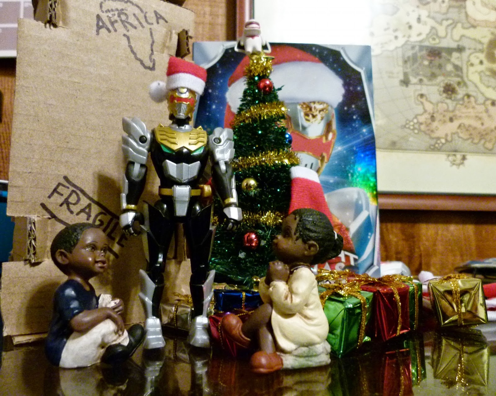 Power Rangers Christmas Tree.Things To Do In Los Angeles Robo Knight Before Christmas
