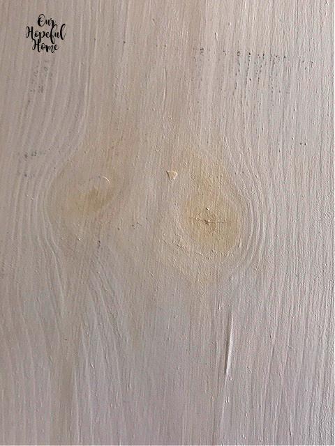 tannins shelf white paint