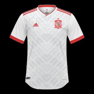 Descrição  Essas são as camisas da Seleção Espanhola nesse ano de 2018 pro  Mundial da Rússia feitas pela Adidas. A Home é uma reprodução da ... 49ddad6651598