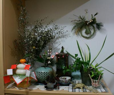 玄関の正月飾り