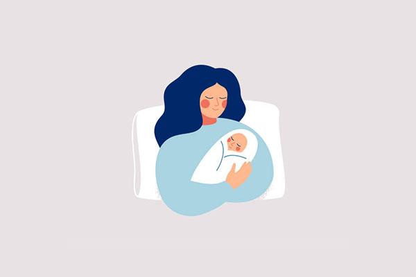 Baby newborn mendukung