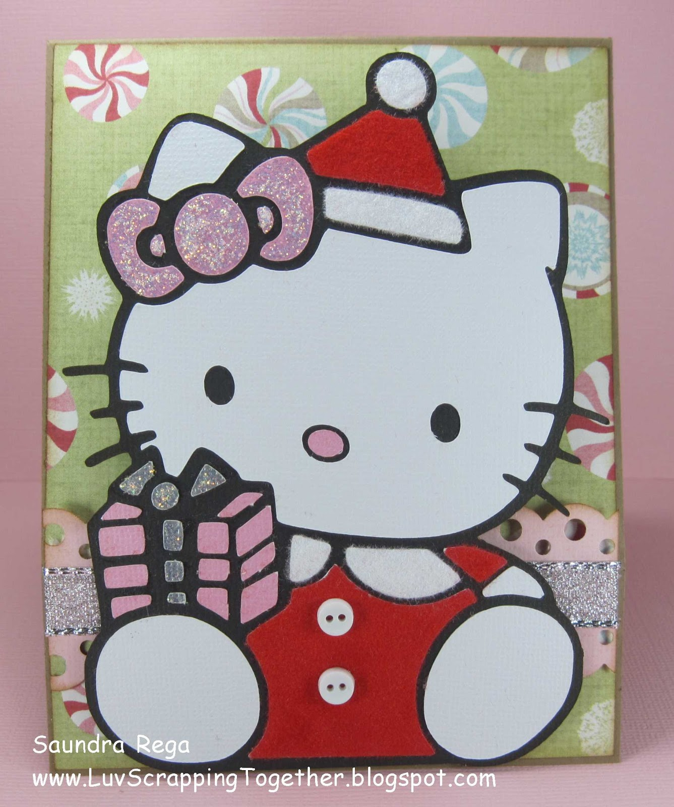 luv scrapping together santa baby hello kitty. Black Bedroom Furniture Sets. Home Design Ideas
