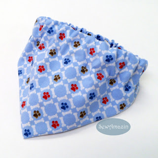 Paws and Bones Blue Dog Bandana