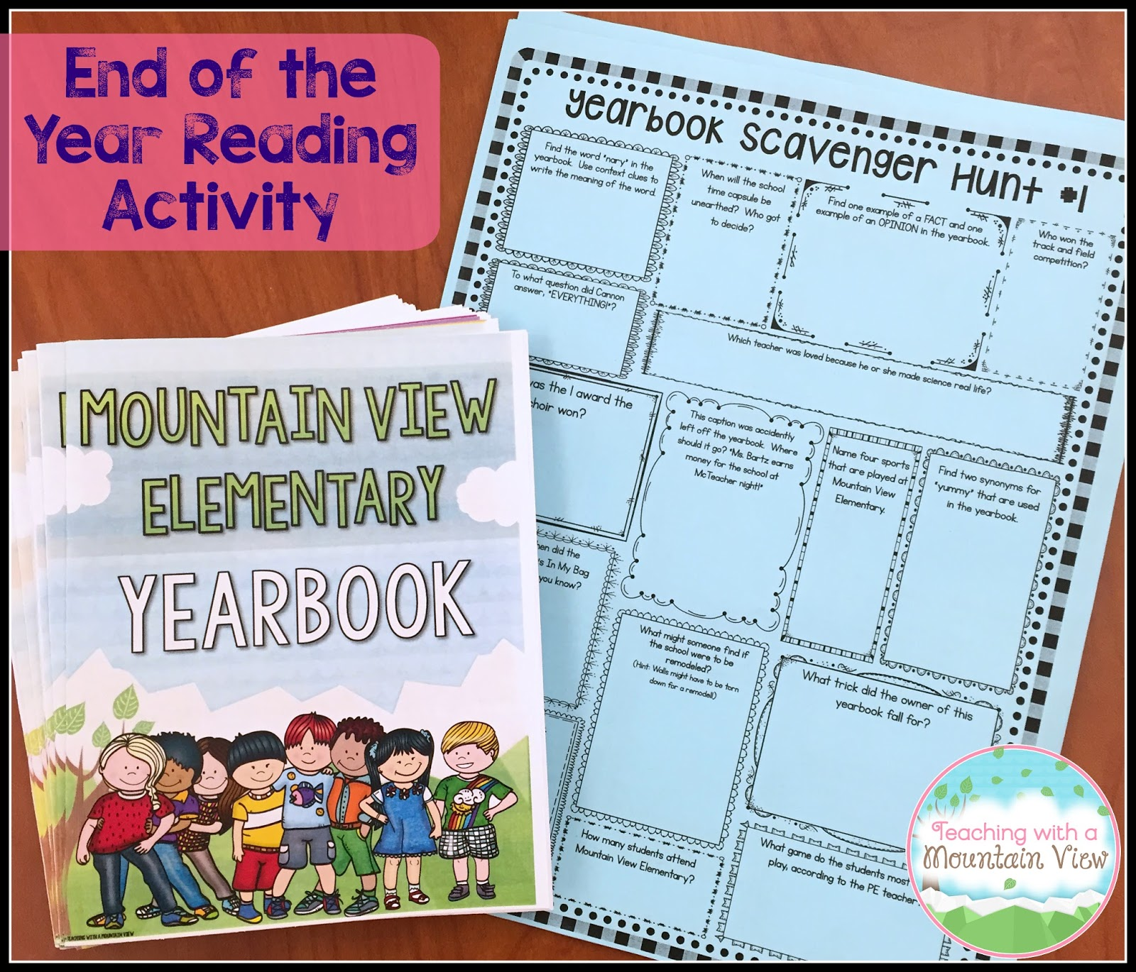 Teaching With a Mountain View: End of the Year Activities for Upper ...