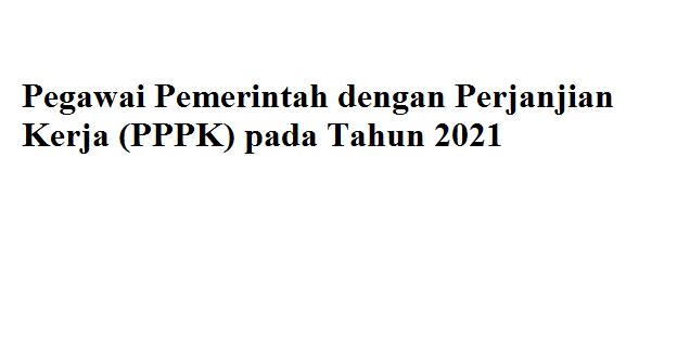 Formasi PPPK Guru tahun 2021