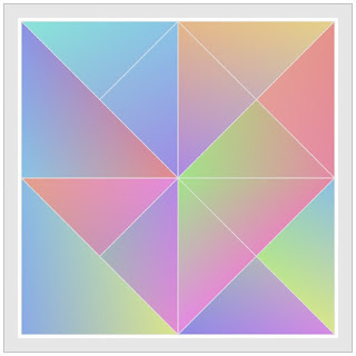Beautiful colored triangle shapes with random walking.