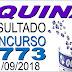 Resultado da Quina concurso 4773 (11/09/2018) ACUMULOU!!!