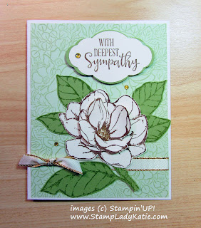 Sympathy Card made tampin'UP!'s Breathtaking Bouquet and Good Morning Magnolia. Sentiment is from Peaceful Moments.