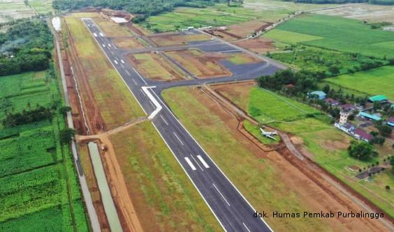 Pembangunan Bandara JB Soedirman Purbalingga Hampir Selesai