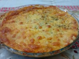 Escondidinho de batatas e queijo