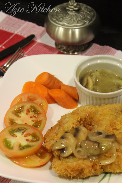 Chicken Chop With Mushroom Sauce
