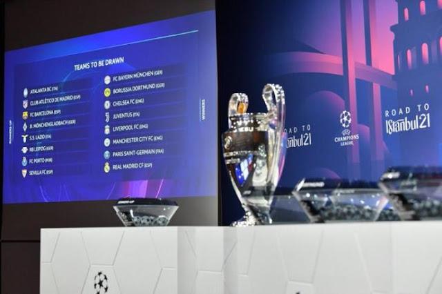 مواجهات دور ال 16 في دوري ابطال اوروبا 2020-2021