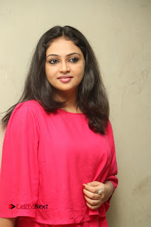 Actress Arundathi Nair Stills in Red Chididar at Bethaludu Success Meet  0057.JPG