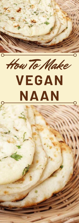 HOW TO MAKE VEGAN NAAN #vegan #vegetarian #yummy #cauliflower #mushroom