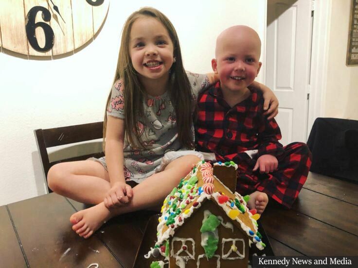Touching Photo Depicts Sister Soothing Her Ill Little Brother Battling Leukemia