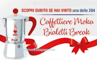 Logo Finish e Vanish ''Puliti e vincenti'': vinci subito 284 caffettiere Moka Bialetti Break! Anticipazione