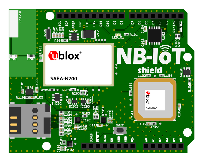 NB-IoT shield for Arduino - M B Raw