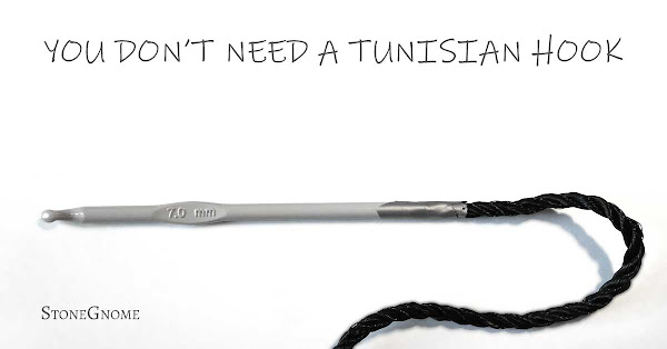 You dont need a Tunisian crochet hook