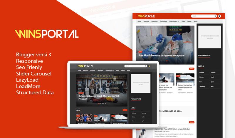 UPDATE: WinsPortal v3.0 Responsive Blogger Template