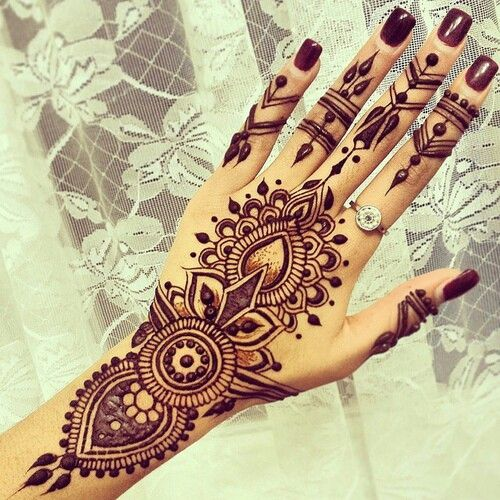 Beautiful Henna Tattoo For Women