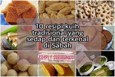 kuih traditional yang sedap dan terkenal di Sabah