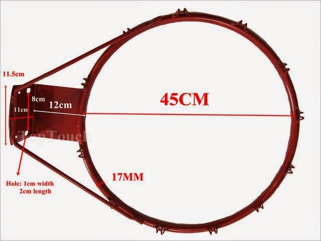 BASKETBALL: Basketball Rim Measurements