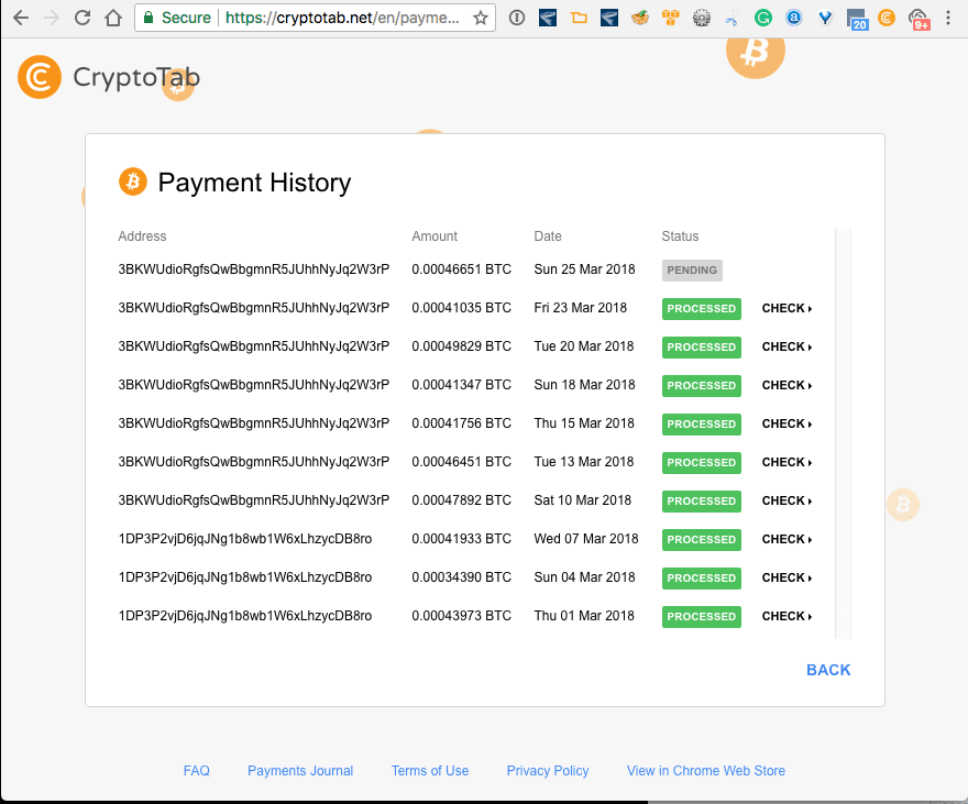 Earn Bitcoins while using Google Chrome CryptoTab Mine Bitcoin