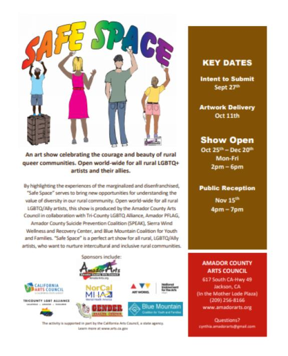 """Safe Space"" LGBTQ Exhibit in Jackson Opens Friday, October 25"