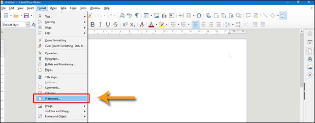 how-to-insert-watermark-in-libreoffice