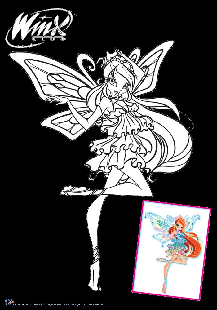 Winx Club Sirenix Colorear Colorea A Bloom Enchantix