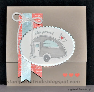 You're Sublime, Stamp with Trude, Stampin' Up!, Travel Trailer, greeting card