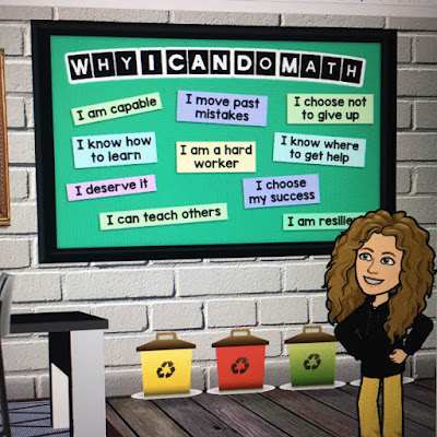 virtual math classroom decor
