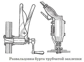 Развальцовка бурта трубчатой заклепки