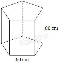 Kerangka akuarium berbentuk prisma segi-5 beraturan