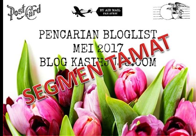 Segmen Pencarian Bloglist Mei 2017 TAMAT