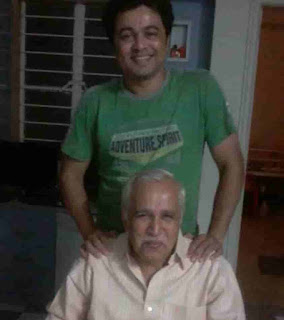Subodh Bhave With His Father