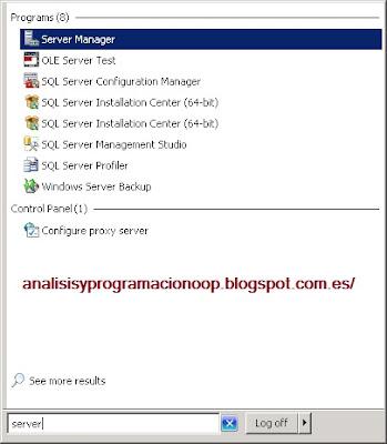 abrir el server manager